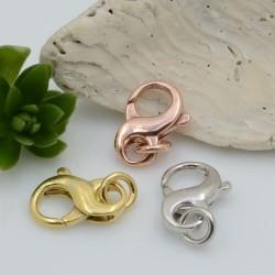 Moschettone chiusura a forma di infinito 12 x 9 mm in argento 925% per le tue creazioni!!!