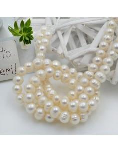 perle di fiume acqua dolce foro largo da 2 mm forme rotonda 8 mm 50 pz per le tue creazione