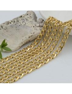 Catena grumetta piatta in acciaio varie misure per bigiotteria 50 cm orecchini collane e bracciali fai da te