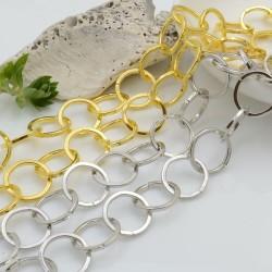 Catena tonda liscia in metallo 15 mm 1mt per le tue creazioni!