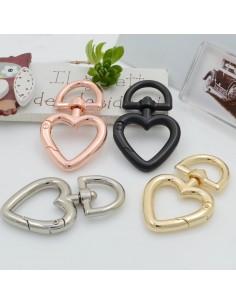 moschettone chiusura cuore per collane moschettone Borsa 46 mm in ottone per le tue creazioni!!!