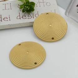 Ciondolo connettore in zama con fantasia 30 mm 1 pz con 2 fori per i tuoi gioielli alla moda