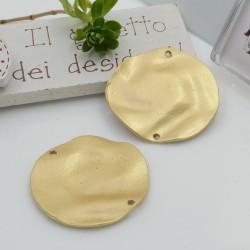 Ciondolo connettore in zama tondo irregolare 33 mm 1 pz per i tuoi gioielli alla moda!