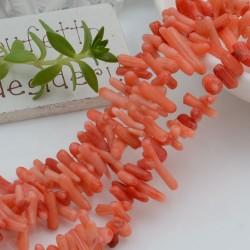 filo pietre ramo corallo liscio colore salmone 8 - 17 mm circa 110 pz 40 cm per i tuoi gioielli alla moda!!