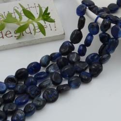 Pietre dure cianite Sasso Burattato qualità di gioielli 5-7 mm filo 40cm