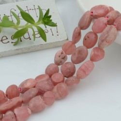 Pietre dure rodocrosite Sasso Burattato qualità di gioielli 5-7 mm filo 40cm