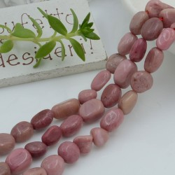 Pietre dure rodonite Sasso Burattato qualità di gioielli 5-7 mm filo 40cm