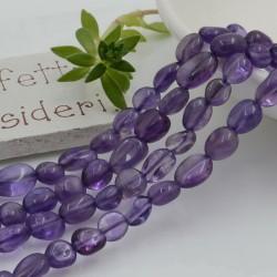 Pietre dure Ametista Sasso Burattato qualità di gioielli 5-7 mm filo 40cm