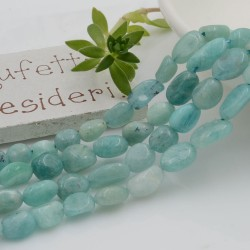 Pietre dure Amazzonite Sasso Burattato qualità di gioielli 5-7 mm filo 40cm