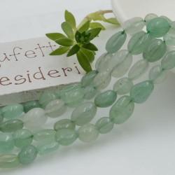 Pietre dure Giada verde Sasso Burattato qualità di gioielli 5-7 mm filo 40cm