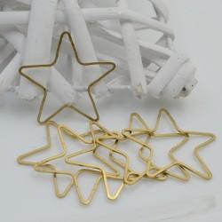 Cerchio vuoto chiuso forma stella in ottone naturale spessore 1 mm 6 pz varie misure per le tue creazioni!!!