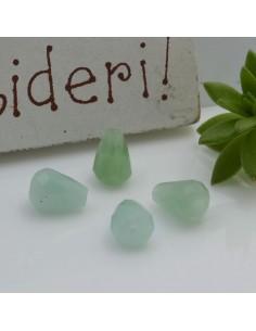 Pietre dure a forma di goccia sfaccettata giada verde 5 x 8 mm 2 pz per le tue creazioni!!!
