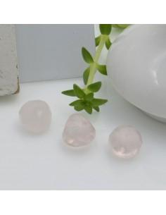 Pietre dure quarzo rosa a forma di goccia sfaccettato 7 mm 1 pz per le tue creazioni!!!