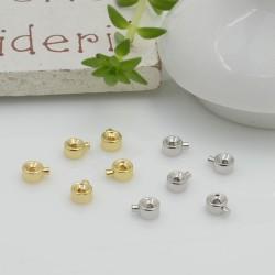 Schiaccini in ottone 3 mm 2 pz per realizzare i tuoi gioielli fai da te