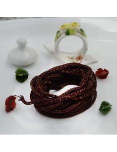 Filo Tricotin Lurex colore marrone 3 mt 4 mm per le tue creazioni alla moda!!