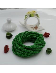Filo Tricotin Lurex colore verde 3 mt 4 mm per le tue creazioni alla moda!!