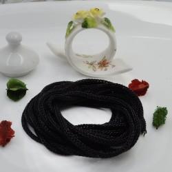 Filo Tricotin Lurex colore nero 3 mt 4 mm per le tue creazioni alla moda!!
