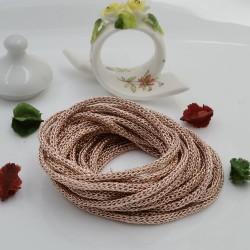 Filo Tricotin Lurex colore oro rosa 3 mt 4 mm per le tue creazioni alla moda!!