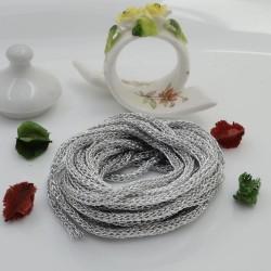 Filo Tricotin Lurex colore argento 3 mt 4 mm per le tue creazioni alla moda!!
