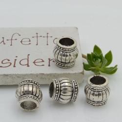 Distanziatori foro largo 9 mm 4 pz colore argento per bracciale collana per le tue creazioni!!