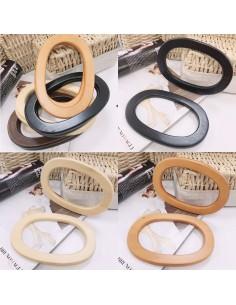 Manici per borse in legno forma ovale 11.50 x 17.50 cm 2 pz colore varia fai da te
