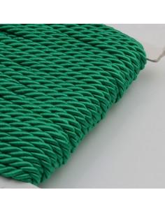 Filo cordino ritorto 3 capi intrecciati verde spessore 3.5 mm 3MT per le tue creazioni n 32