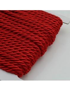 Filo cordino ritorto 3 capi intrecciati rosso spessore 3.5 mm 3MT per le tue creazioni n 47