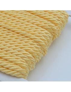 Filo cordino ritorto 3 capi intrecciati giallo chiaro spessore 3.5 mm 3MT per le tue creazioni n 35
