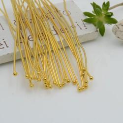 Chiodini Spilli testa Pallina 1.8 mm filo 0.7 colore oro in ottone per le tue creazioni!!!