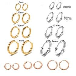 mini cerchio in acciaio liscio spesso 1.6 mm da donna e uomo