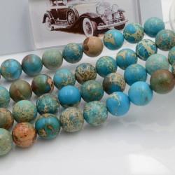 Filo pietra dell'imperiale liscia 10 mm 38 PZ PER TUOI GIOIELLI