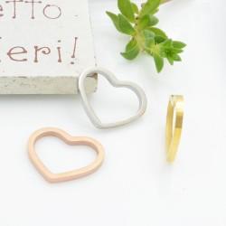 Connettori cuore in acciaio inossidabile cerchio liscio filo quadrato 15 mm 1 pz vari colori per le tue creazioni!!!