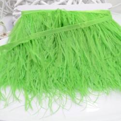 nappe piuma di struzzo Fringe piuma di struzzo altezza 16cm col verde acceso prezzo di confezione 20cm