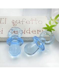 Ciondolo Ciuccio colore azzurro in resina plastica 31 x 15 mm per le tue creazioni alla moda!!