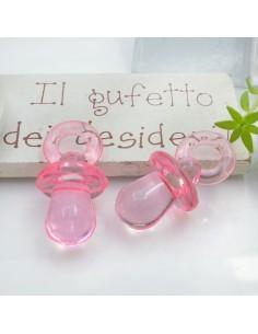 Ciondolo Ciuccio colore rosa in resina plastica 31 x 15 mm per le tue creazioni alla moda!!