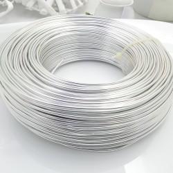 maxi confezione filo in alluminio col argento per le tue creazione fai da te