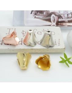 Copri perla a forma fiore 12 x 12 mm in ottone 1 pz per le tue creazioni