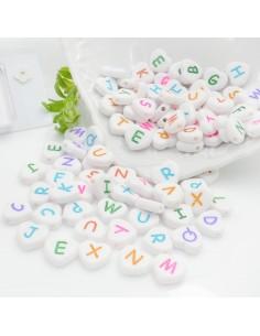 Perline lettere di plastica forma cuore 12mm con scritte colorato 180 pz PER BIGIOTTERIA per le tue creazioni