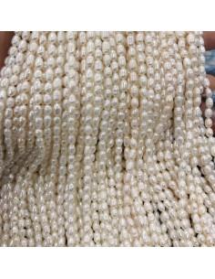 Perle Di Fiume piccoli Chicchi di Riso 4 x 5 mm circa 76 pz per tuoi gioielli