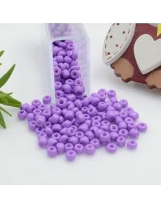 Perline di conteria perline di vetro colore lilla scuro 3 mm 4 mm per le tue creazioni alla moda!!