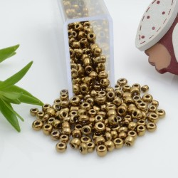 Perline di conteria perline di vetro colore oro scuro 3 mm 4 mm per le tue creazioni alla moda!!
