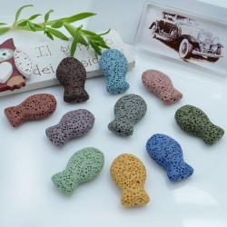 Pietre di lava a forma di pesce 26 x 16 mm 1 pz per le tue creazioni fai da te!!!