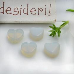 Pietre dure a forma di cuore opale liscio 10 mm 2 pz per orecchini bracciali collana per le tue creazioni!!!