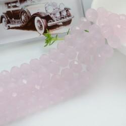 FILO cristallo cinese mezzi cristalli cipollotti 6 x 8 MM colore giada rosa 65 - 70 pz fai da te