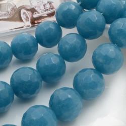 Filo pietre dure Angelite tonda sfaccettata 16 mm 25 pz per le tue creazioni!!!
