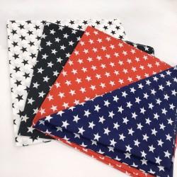 Bandana Vintage con disegni stelle 48 x 48 cm 1 pz 100% cotone per le tue creazioni alla moda!!!