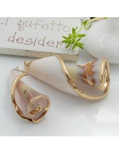 Ciondolo Conchiglia con bordo placcato oro in metallo 1 pz per le tue creazioni!!!