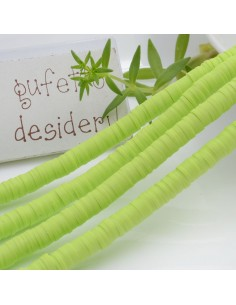 Pasta Polimerica Rondelle col verde giallo 1 x 6 mm 39/40 cm Polimero Perline Heishi per le tue creazioni