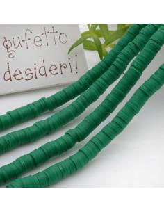Pasta Polimerica Rondelle col verde 1 x 6 mm 39/40 cm Polimero Perline Heishi per le tue creazioni
