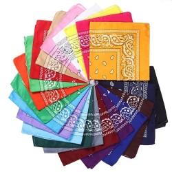 Bandana Vintage con fantasia 55 x 55 cm 1 pz 100% cotone per le tue creazioni alla moda!!!